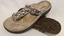 Taos Women's Lucy Ivory Zebra Print Sandal 40 M EU 9-9.5 B M US, EUC