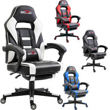 BIGZZIA TURBO RECLINING LEATHER SPORTS RACING OFFICE DESK CHAIR GAMING