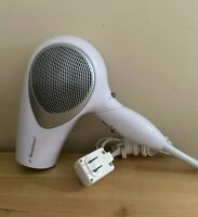 Vintage Brookstone Whisper Quiet II Travel Hair Dryer Blow Dryer 1200 Watts 125v