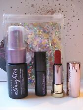 URBAN DECAY Travel Set TROUBLEMAKER Mascara + ALL NIGHTER Spray + VICE Lipstick