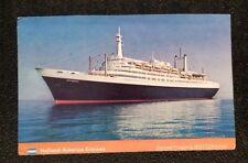 Vintage Postcard Holland American Cruises Rotterdam