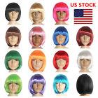 US Womens Short Bob Hair Wig Straight Cosplay Party Wigs Fancy Dress Full Wigs