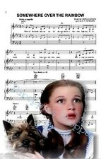 Judy Garland Dorothy Toto The Wizard of Oz Fabric Block Sheet Music Somewhere