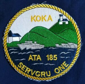 USN Tug Boat USS KOKA ATA 185 SERVGRU ONE Ship NAVY Military Patch