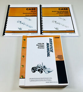 CASE 530CK TRACTOR LOADER BACKHOE SERVICE MANUAL PARTS CATALOG CONSTRUCTION KING