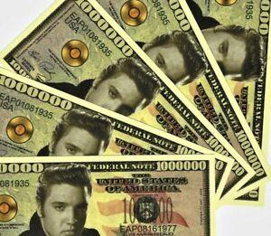 New 5 Note Set Elvis Presley $1,000,000 Banknote Serial EAP08161977 Novelty Note