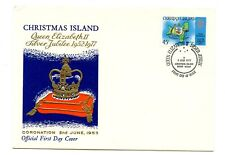 Christmas Island FDC 1977 Queen Silver Jubilee Crown G596