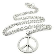 "CND Peace Sign Pendant 20"" Chain Necklace Hippy Retro CND Bohemian Jewellery"