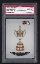 1990 Pro Set #380 Kevin Lowe, King Clancy Trophy, Pop 4,  PSA 10 Gem Mt, 1990-91
