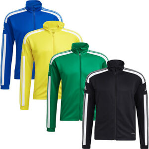 Mens Adidas Full Zip Tracksuit Track Top Jacket Squadra 21 Sweatshirt Gym Tops