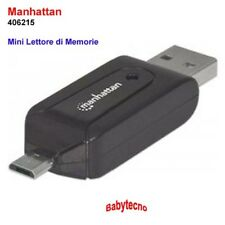 Manhattan USB MICRO Card Reader Lettore Memory Card SD SDHC SDXC MicroSD 406215