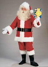 DELUXE PLUSH SANTA SUIT ADULT CHRISTMAS HOLIDAY COSTUME SIZE XXL(XX-LARGE)