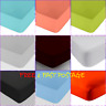 200TC Plain Dyed Fitted Sheets & Pair Pillowcases Luxury 100% Egyptian Cotton