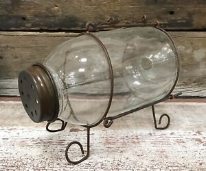 MONTANA BAIT COMPANY Vintage Glass Trap Minnow Catcher