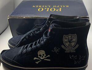 Polo Ralph Lauren Men's Solomon Suede High Top Fashion Shoes Size 11.5New in Box