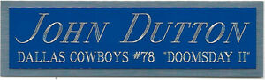 JOHN DUTTON COWBOYS NAMEPLATE FO AUTOGRAPHED Signed Helmet JERSEY FOOTBALL PHOTO