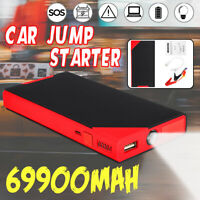 69900mAh Vehicle Car Jump Starter Booster USB Battery Power Bank Charger 12V
