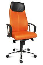 Topstar Chefsessel High Sit Up orange mit Armlehnen SU39ABG4 B-Ware
