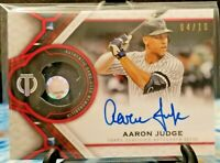 Aaron Judge 2021 Topps Tribute Autographed Auto Relic Yankees RED Parallel 4/10