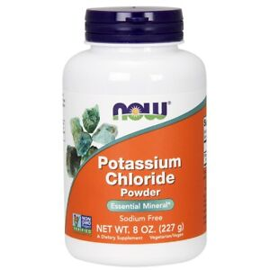 Now Foods Potassium Chloride Powder 8 oz Made in USA FREE SHIPPING