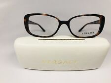 New Authentic Versace MOD 3178-B-A 944 Havana & Crystals Eyeglasses 53mm w/Case