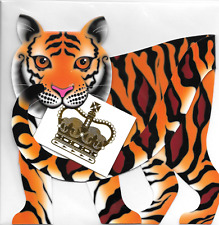 * P & P libre 1st clase * #93 Pastillas 3D Tarjeta de entrega especial Gato Tigre Corona de Stand Up