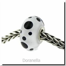 Authentic Trollbeads Glass 61400 Black Spot :1
