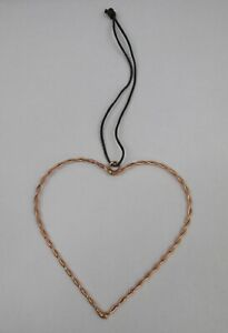 Twisted Wire Copper Heart Hanging Decoration - Valentines