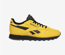 New REEBOK CLASSIC LEATHER - FU9226 Yellow/Black Mens Shoes c1
