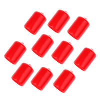 10 Pieces Pool Cue Tip Rubber Protector Pool Cue Head Cover Red