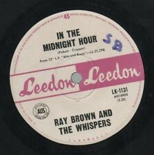 "RAY BROWN AND THE WHISPERS   Rare 1965 Aust Only 7"" OOP Single ""Midnight Hour"""