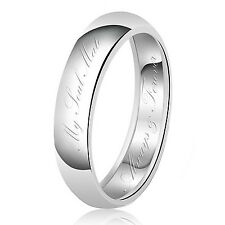 Sterling Silver 925 Couples My Soulmate Always & Forever Wedding Band Ring
