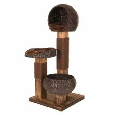 Scorched Wood Cat Tree Den Washable Cushions Sisal Scratcher  - 139cm High