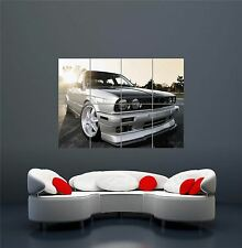 BMW E30 SPORTS RALLY CAR POSTER ART PRINT XXL GIANT WA197