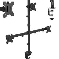 "Dihl Triple Arm Desk Mount Bracket LCD Computer Monitor Stand 13""-27"" Screen TV"