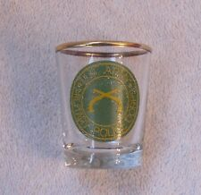 Vintage U.S. Army Military Police Corps Green Yellow Gold 2 1/4 Inch Shot Glass