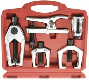 6Pcs Front End Service Kit Pitman Arm Puller Ball Joint Tie Rod Removal Tool Kit