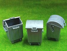 3x G Scale 1:25 Outdoor Garbage Trash Container Cans for Model Train Layout