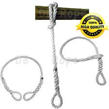 "72""x1/2"" Tree Swing / Hammock Hanging SAFER Rope w/ 2 Spliced Eyes TS. 5700 lbs"