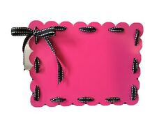 """Carol Roeda Pink Metal Magnetic Picture Frame With Ribbon 6.5"""" x 8.5"""""""