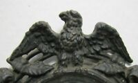 Antique EAGLE Frame Cast Iron High Relief Ornate Figural Picture Mirror Artwork