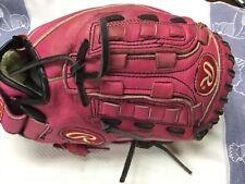 "Pink Rawlings Leather Softball Glove 11"" Model Pp11Pk Rht GreatShape Adjustable"
