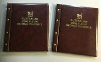 VST Australian Decimal Coin Collection Album - Volume 1 & 2  (Burgundy)1966-2018