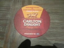 1 only CARLTON DRAUGHT,one day only issue AFL GAME collectable COASTERS