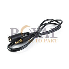 """3ft 1/8"""" 3.5mm Stereo Audio Headphone Cable Extension Cord M to F Mp3 Aux"""