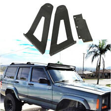 84-01 Jeep Cherokee XJ Roof Windshield Mount Bracket For 50'' LED Light Bar