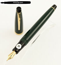 Old Cross Cartridges Fountain Pen in Dark Green with goldplated M-nib