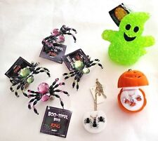 Mixed Lot Halloween Goodies Spider Rings, Earring & Necklace Sets & Ghost - New