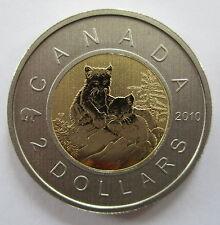2010 CANADA $2 DOLLAR YOUNG LYNX SPECIMEN TOONIE COIN