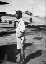 WWII Photo WW2 Japanese Zero Pilot Truk 1943 A6M  World War Two Japan / 2497